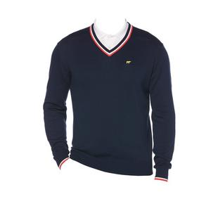 Men's V-Neck Collar & Cuffs Sweater