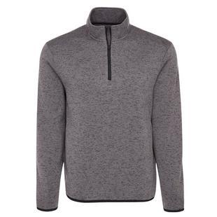 Men's Heather Knit Fleece Sweater