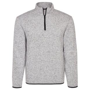 Men's Heather Knit Fleece Sweater