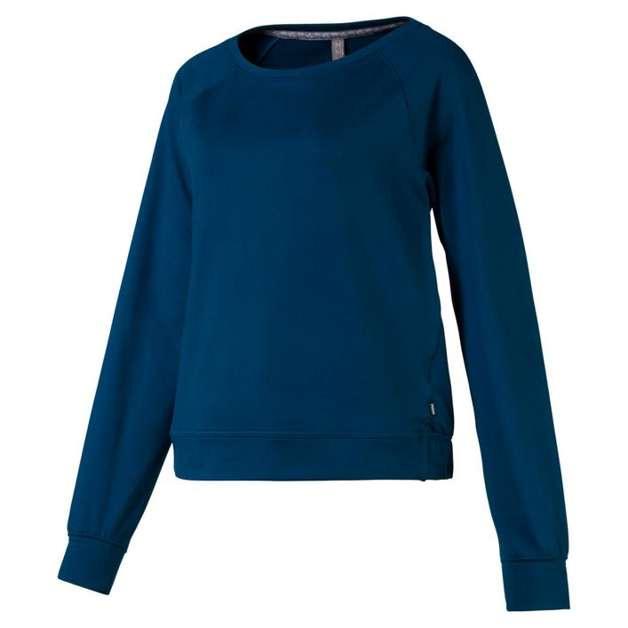 Womens Crewneck Fleece Long Sleeve Sweater