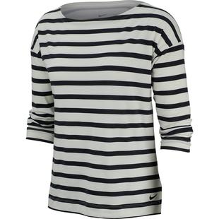 Women's Dry UV 3 Quarter Stripe Top