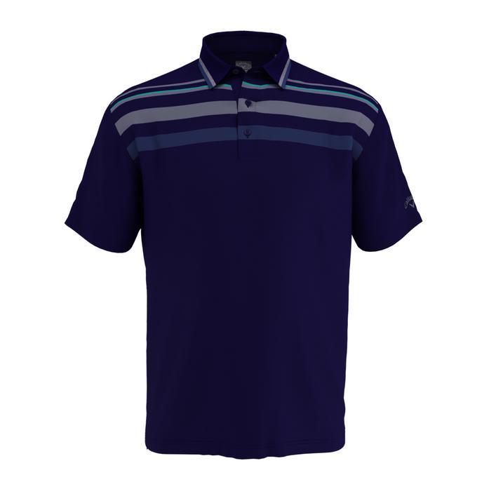Men's Birdseye Chest Stripe Short Sleeve Shirt