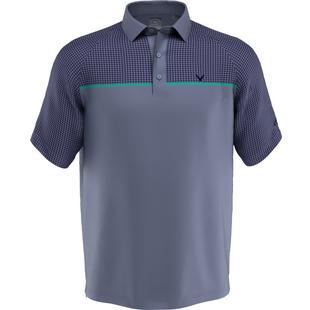 Men's Houndstooth Chest Print Short Sleeve Shirt