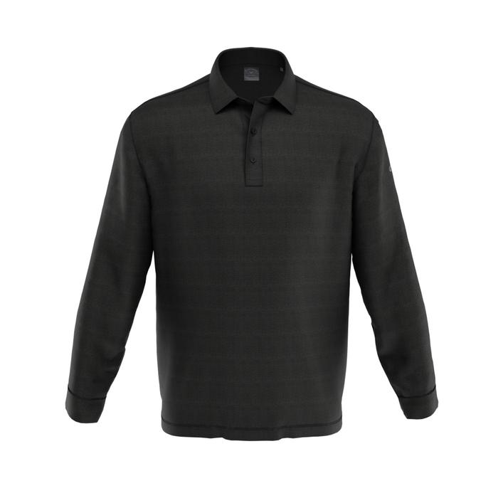 Polo French Terry à manches longues pour hommes