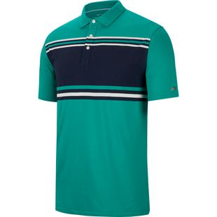 Men's Dry Player Stripe Short Sleeve Polo