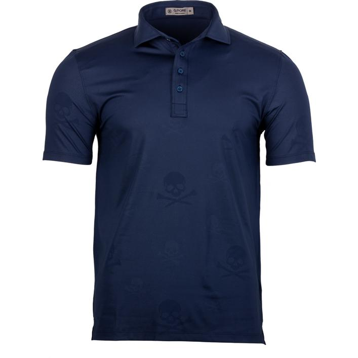 Men's Skull Embossed Short Sleeve Shirt