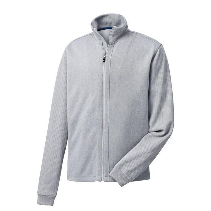 Men's Jersey Knit Full Zip Sweater