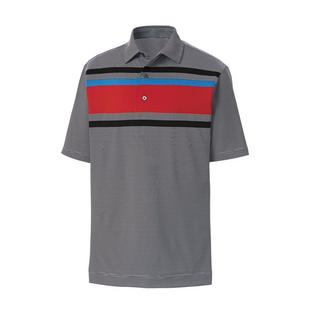 Men's Lisle End on End Stripe Short Sleeve Shirt