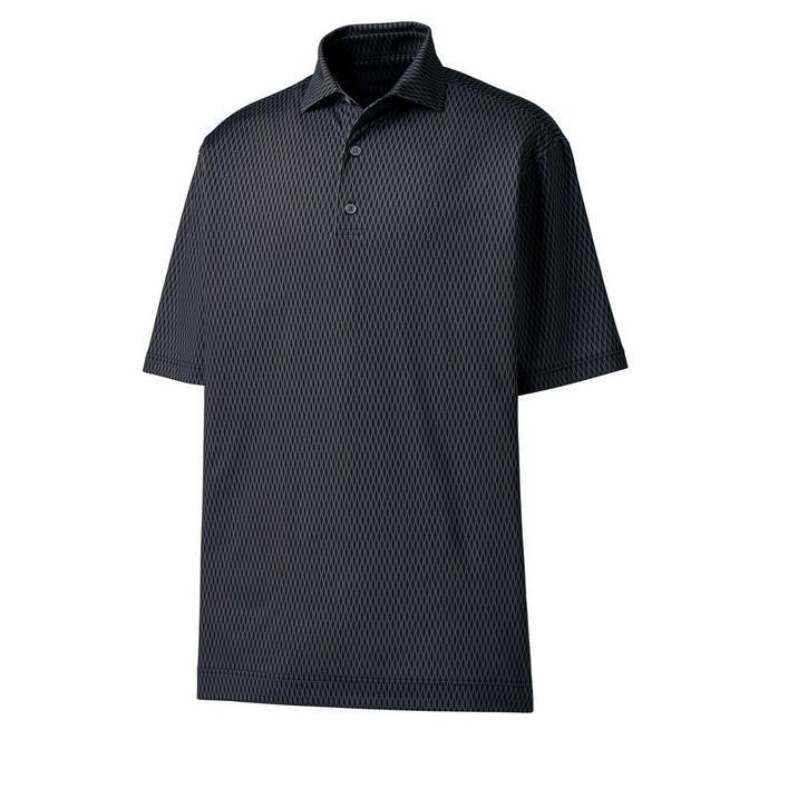 Men's Lisle Tonal Wave Short Sleeve Shirt