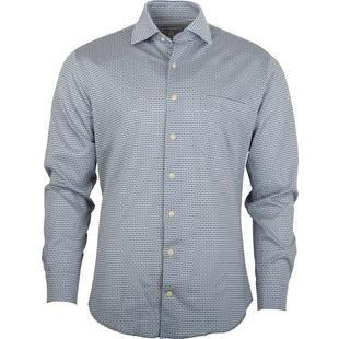 Men's Cards Woven Long Sleeve Shirt