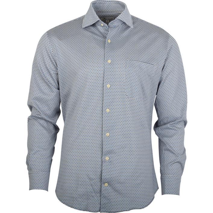 Men's Cards Woven Long Sleeve Shirt