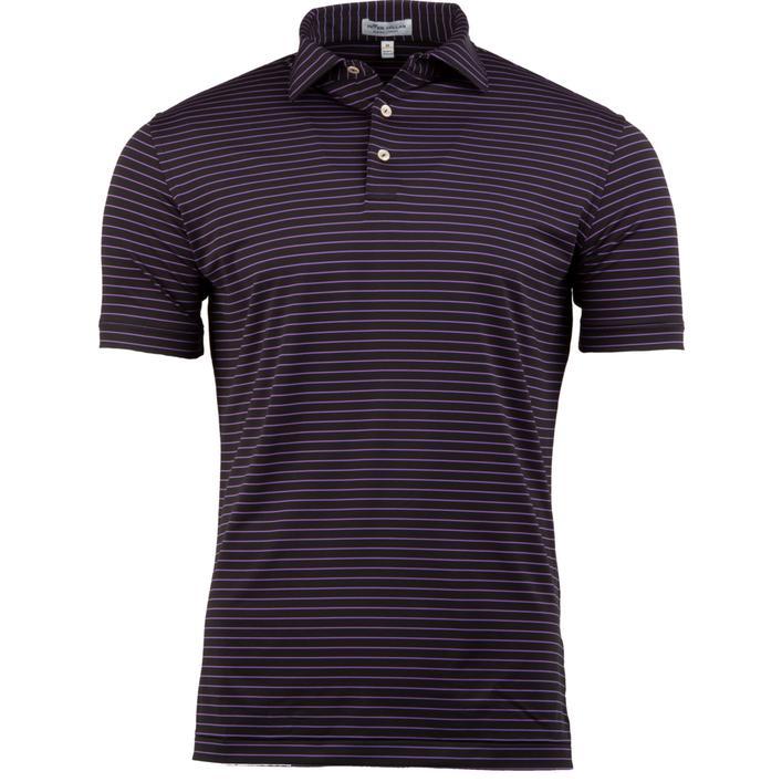 Polo rayé en jersey à manches courtes pour hommes