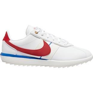 Chaussures Cortez G sans crampons pour femmes - Blanc/Rouge/Bleu