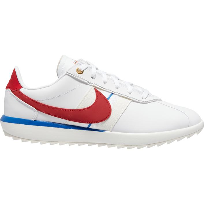 Women's Cortez G Spikeless Golf Shoe - White/Red/Blue