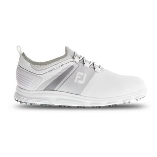 Men's Superlites Slip On Spikeless Golf Shoe - White/Grey
