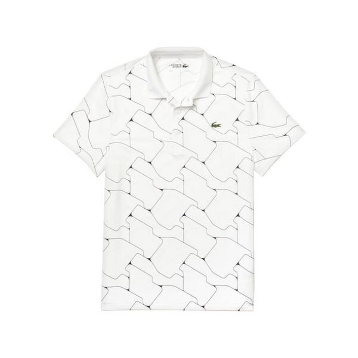 Men's Tile Print Breathable Stretch Jersey Short Sleeve Shirt