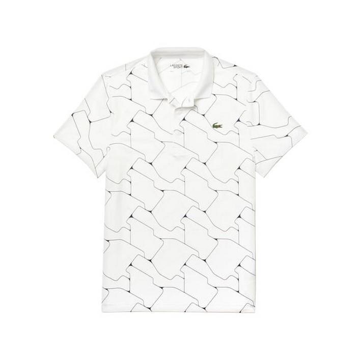 Polo Tile respirable en jersey extensible respirable à manches courtes pour hommes