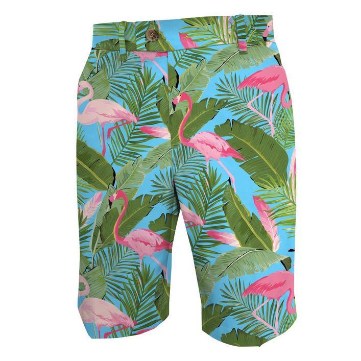Pantalon court Flamingo Garden pour hommes
