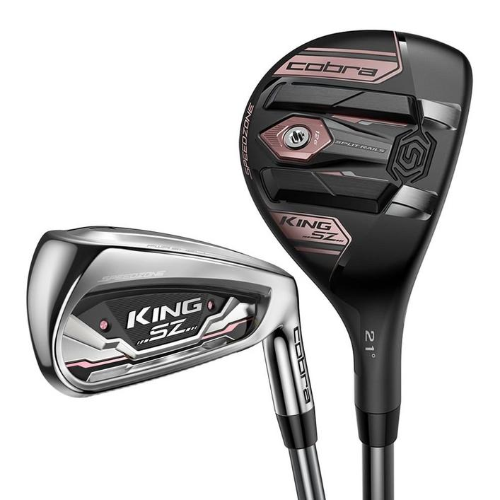 Women's Speedzone 5H 6H 7-PW, SW Combo Iron Set with Graphite Shafts