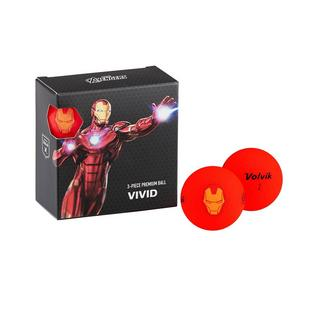 Vivid 4 Pack Golf Balls - Marvel Iron Man