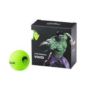 Vivid 4 Pack Golf Balls - Marvel Hulk