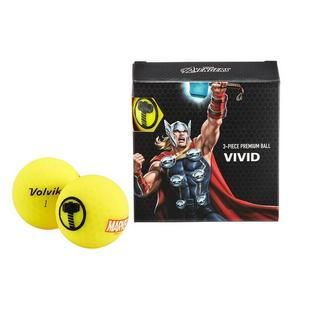 Vivid 4 Pack Golf Balls - Marvel Thor