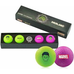 Vivid 4 Pack Golf Balls - Marvel Hulk Edition