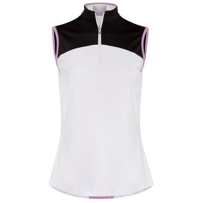 Women's Colourblock Sleevless Polo
