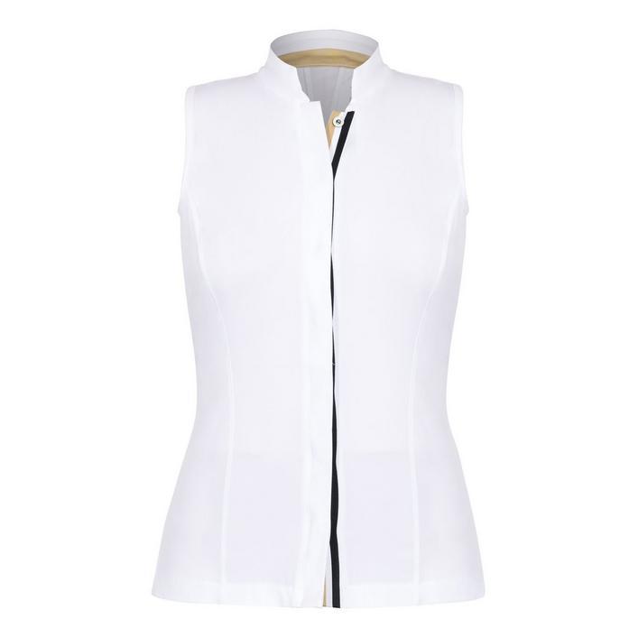 Women's Flora Button Front Sleeveless Polo