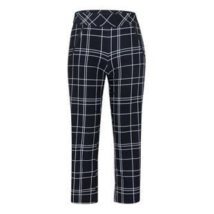 Women's Claudia Windowpane Printed Crop Pant
