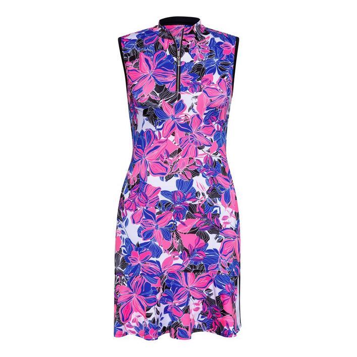 Women's Floral Printed Sleeveless Dress