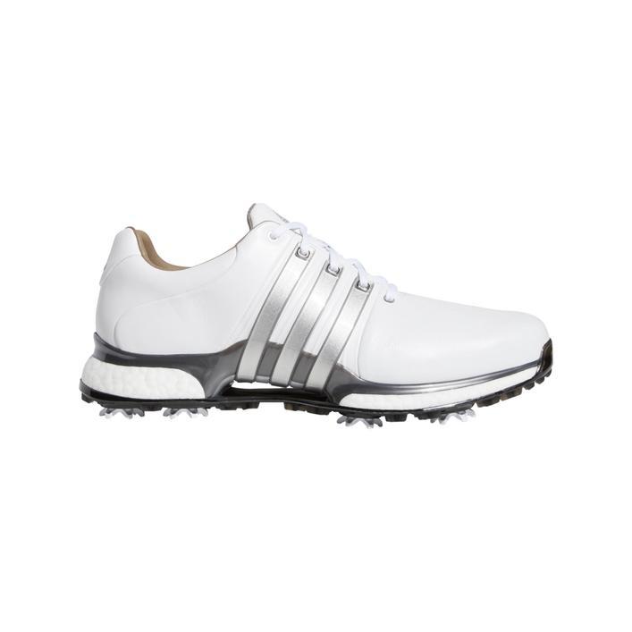 Chaussures Tour360 XT à crampons pour hommes - Blanc/Argent