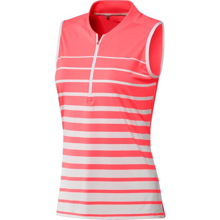 Women's Stripe Sleeveless Polo