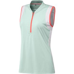 Women's Colourblock Sleeveless Polo