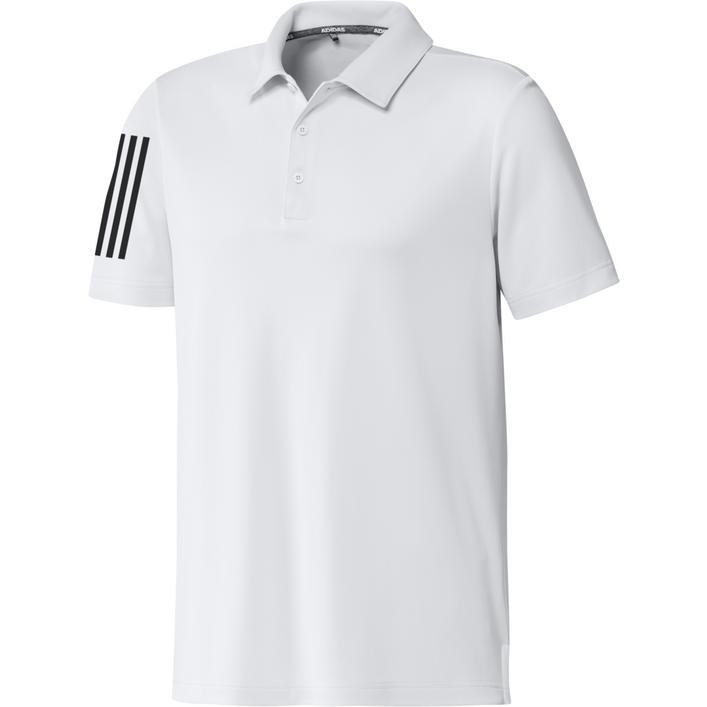 Men's 3-Stripe Basic Short Sleeve Polo