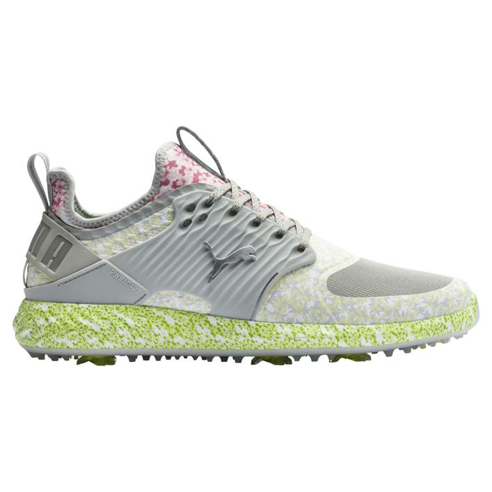 Men's Ignite PWRAdapt Caged Tournament Spiked Golf Shoe - Grey/Green/Yellow