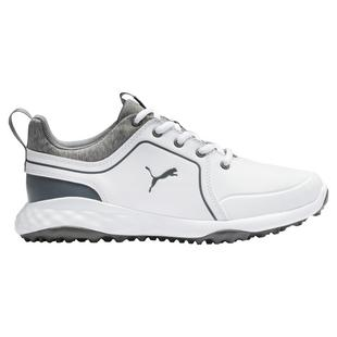 Junior Grip Fusion 2.0 Spikeless Golf Shoe - White/Grey