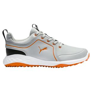 Junior Grip Fusion 2.0 Spikeless Golf Shoe - Grey/Orange