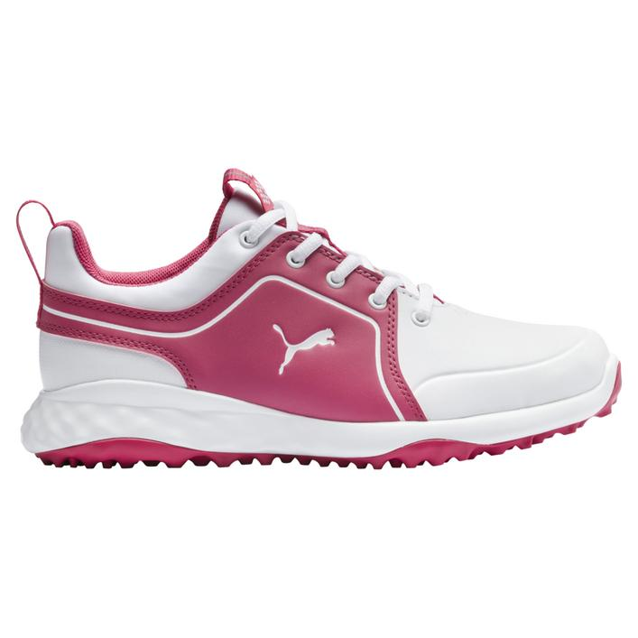 Junior Grip Fusion 2.0 Spikeless Golf Shoe - White/Pink