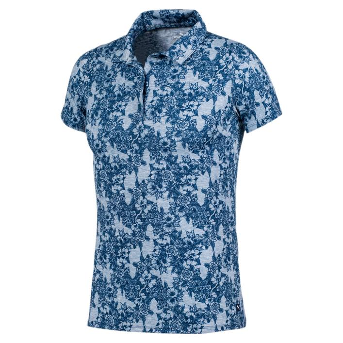 Women's Roses Printed Short Sleeve Polo