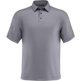 Men's Mini Printed Gingham Short Sleeve Polo