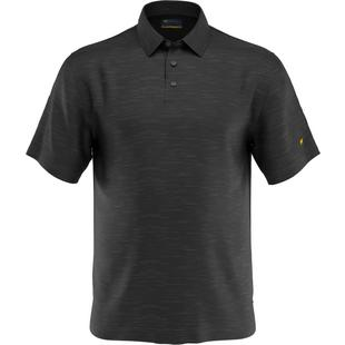 Men's Heather Slub Short Sleeve Polo