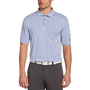 Men's Heather Slub Short Sleeve Polo