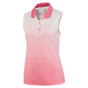 Women's Ombre Sleeveless Polo