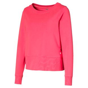 Women's Crewneck Zip Fleece Sweater