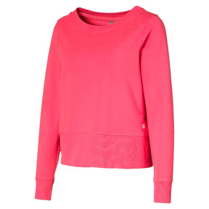 Women's Crewneck Zip Fleece Sweater
