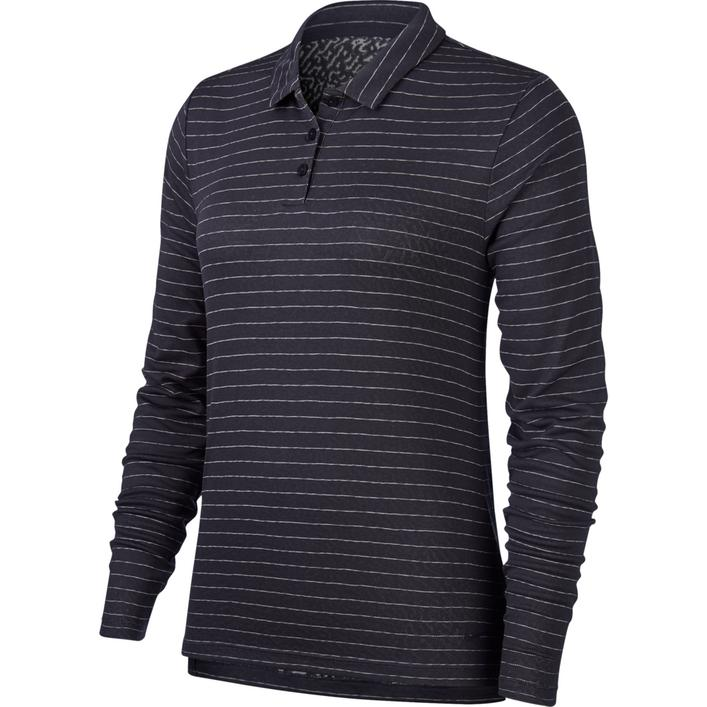 Women's Stripe Long Sleeve Polo