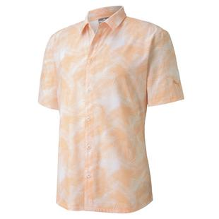 Men's Palm Short Sleeve Button-Up