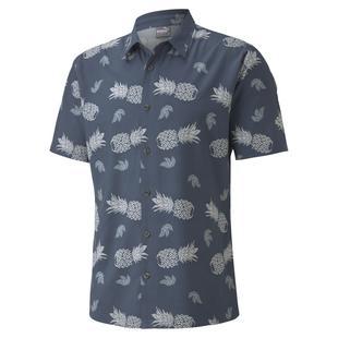 Men's Pineapple Short Sleeve Button-Up