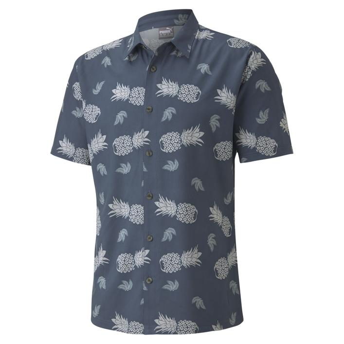 Men's Pineapple Short Sleeve Button-Up